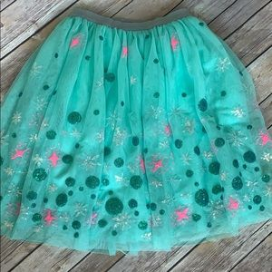 Cat and Jack Sequined Tulle Skirt 6/6X